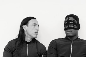 Rick Owens and Zebra Katz wear all clothes by Rick