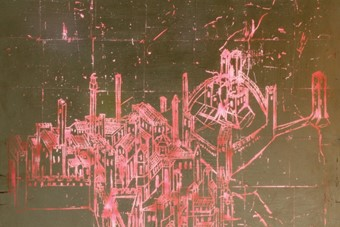 'Scratched City (After Lorenzetti)', 2009, Henriet
