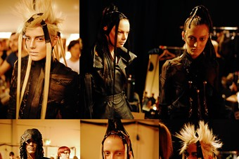Gareth Pugh SS08 backstage images by Alistair Alla