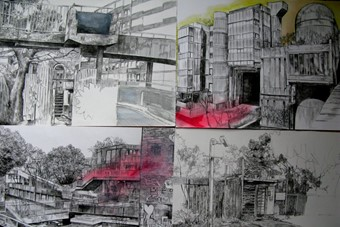 """""""Abandoned London 1-4"""" Laura Oldfield Ford, 2008"""