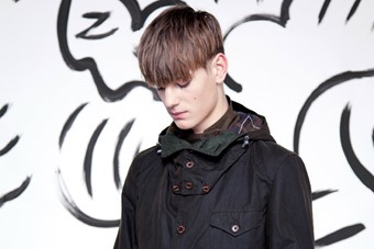 Ben wears sports jacket and trousers by Barbour