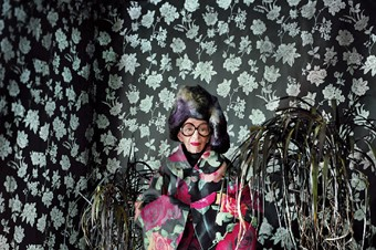 Clothing by Comme des Garçons AW12; headpiece by D