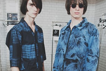 Agi & Sam SS15 Mens collections, Dazed backstage