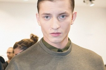 Backstage at Calvin Klein Collection AW14