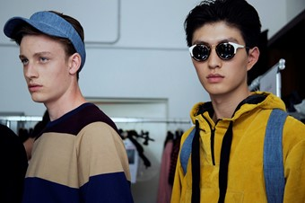 MSGM SS15 Mens collections, Dazed backstage