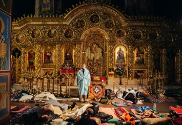 @euromaidan st michael's church acting as hospital