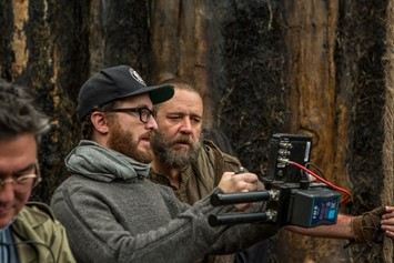Darren Aronofsky on the set of Noah