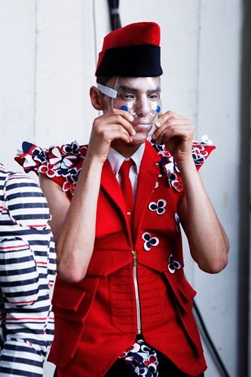Thom Browne SS15 Mens collections, Dazed backstage