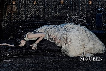 Edie Campbell for Alexander McQueen AW14