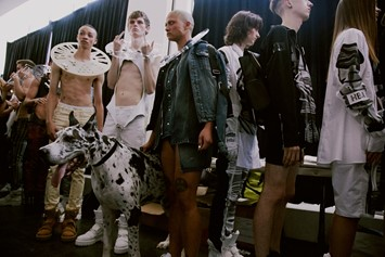 Backstage at Hood by Air SS15
