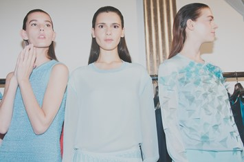 Backstage at Pringle SS15