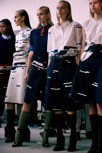 Backstage at Jil Sander SS15