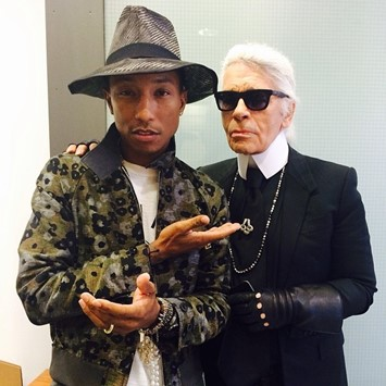 Pharrell Williams Karl Lagerfeld