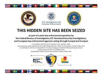 Silk Road 2.0 seizure notice
