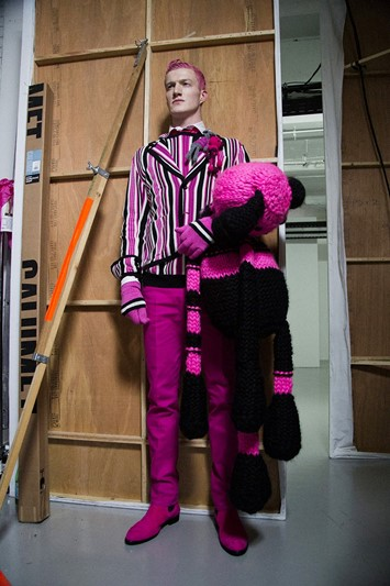 Sibling AW15 LC:M Dazed backstage