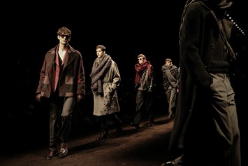 Salvatore Ferragamo AW15 Runway Final Brown Milan