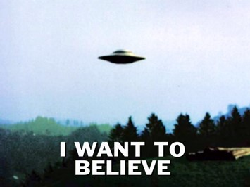 I Want To Believe X-Files poster