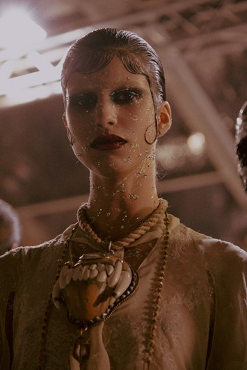 Givenchy AW15 Mens Dazed Backstage Make Up Pat Mcgrath Rope