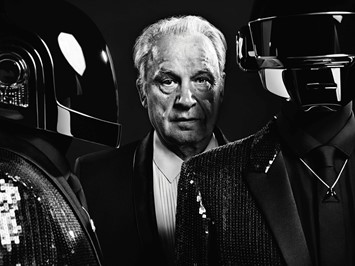Giorgio Moroder with Daft Punk in Dazed