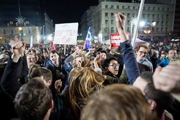 Greece celebrates after Syriza win elections