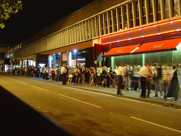 Nighctlub queue in Ipswich