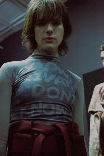 Eckhaus Latta AW15, womenswear, Dazed backstage Hari Nef