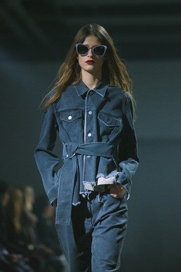 3.1 Phillip Lim, womenswear, Dazed backstage, denim jumpsuit