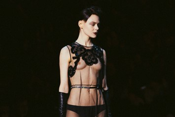 Marc Jacobs AW15 Dazed Womenswear runway transparency sheer