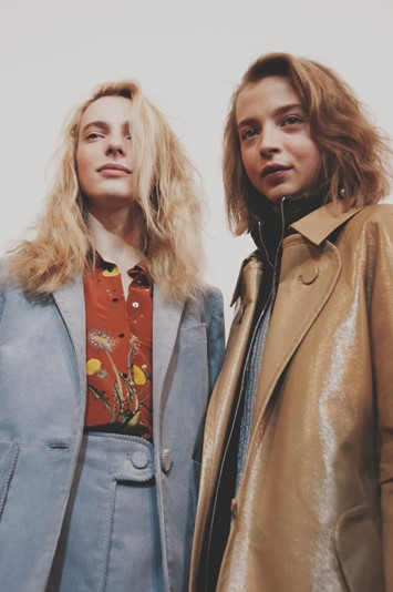 Topshop Unique AW15 Womenswear Dazed backstage suede blue