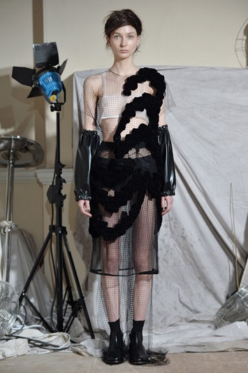 Phoebe English AW15 Presentation Dazed Womens sheer layer