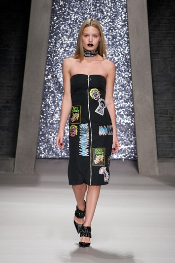 Ashley Williams AW15, Womenswear, Black Bandeau Zip Dress