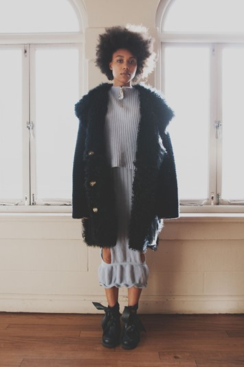Helen Lawrence AW15 Womenswear Dazed fur coat knitwear