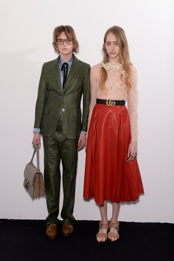 Gucci AW15 Dazed backstage Womenswear androgyny prom nerd