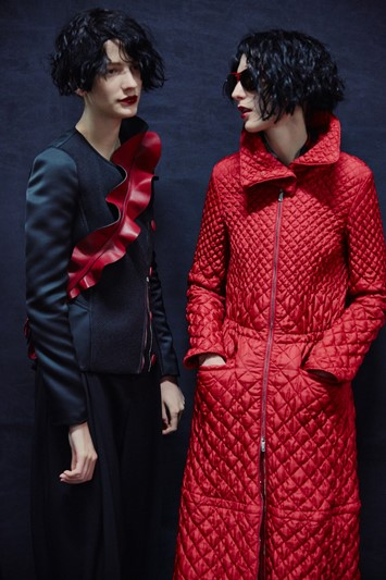 Emporio Armani AW15 Womenswear Dazed backstage flower detail