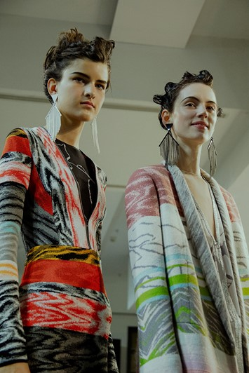Missoni AW15 Womenswear Dazed backstage earrings marbled