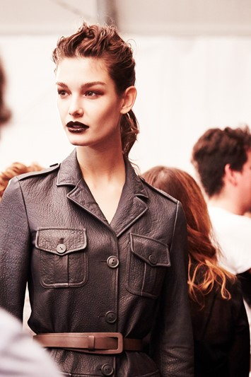 Trussardi AW15, Dazed backstage, Milan, Womenswear