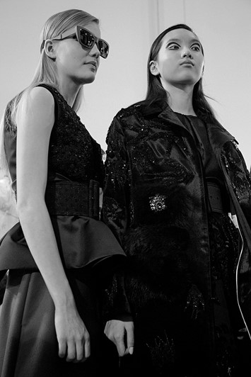 Rochas AW15, Dazed backstage, Womenswear