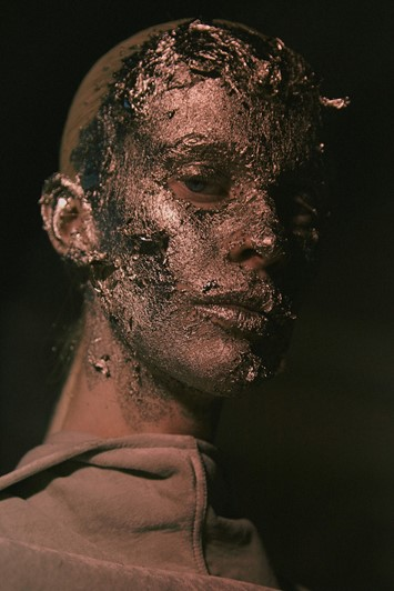 Rick Owens AW15, Dazed, womenswear gold makeup