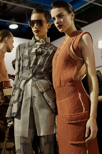 Acne Studios AW15, Womenswear, Dazed backstage, Paris