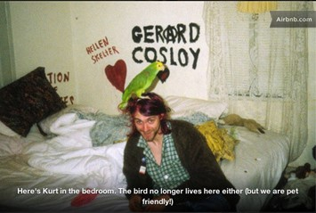 Kurt Cobain in LA apartment