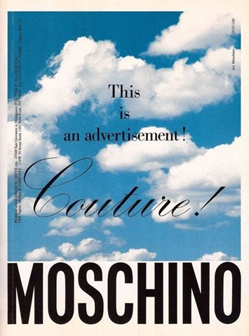 moschino 90s adverts surrealism slogans franco moschino