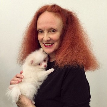 Grace Coddington Vogue puppy
