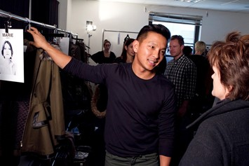 Prabal Gurung backstage