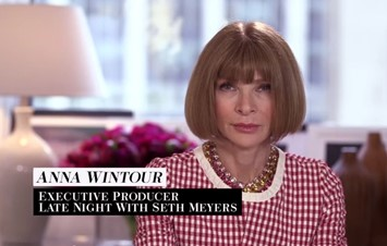 Anna Wintour on Late Night with Seth Myers