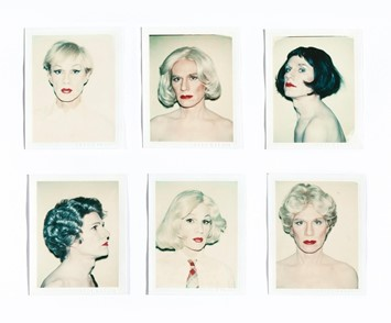 Andy Warhol drag polaroid