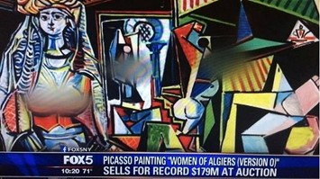 Picasso censorship Women of Algiers (Version O)