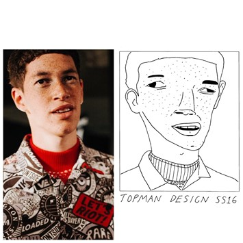 Topman Design SS16 LCM Badly Drawn Models Sean Ryan