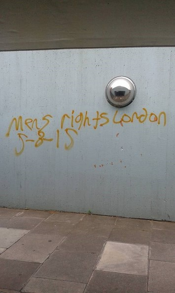 Men's Rights MRA graffiti London June 2015