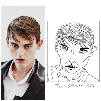 Jil Sander SS16 Milan menswear Badly Drawn Models