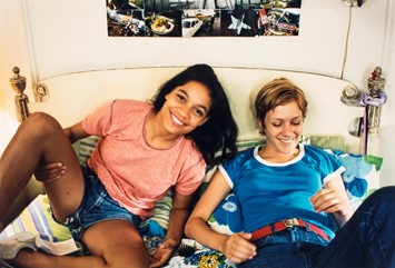 Rosario Dawson and Chloë Sevigny on set for Kids
